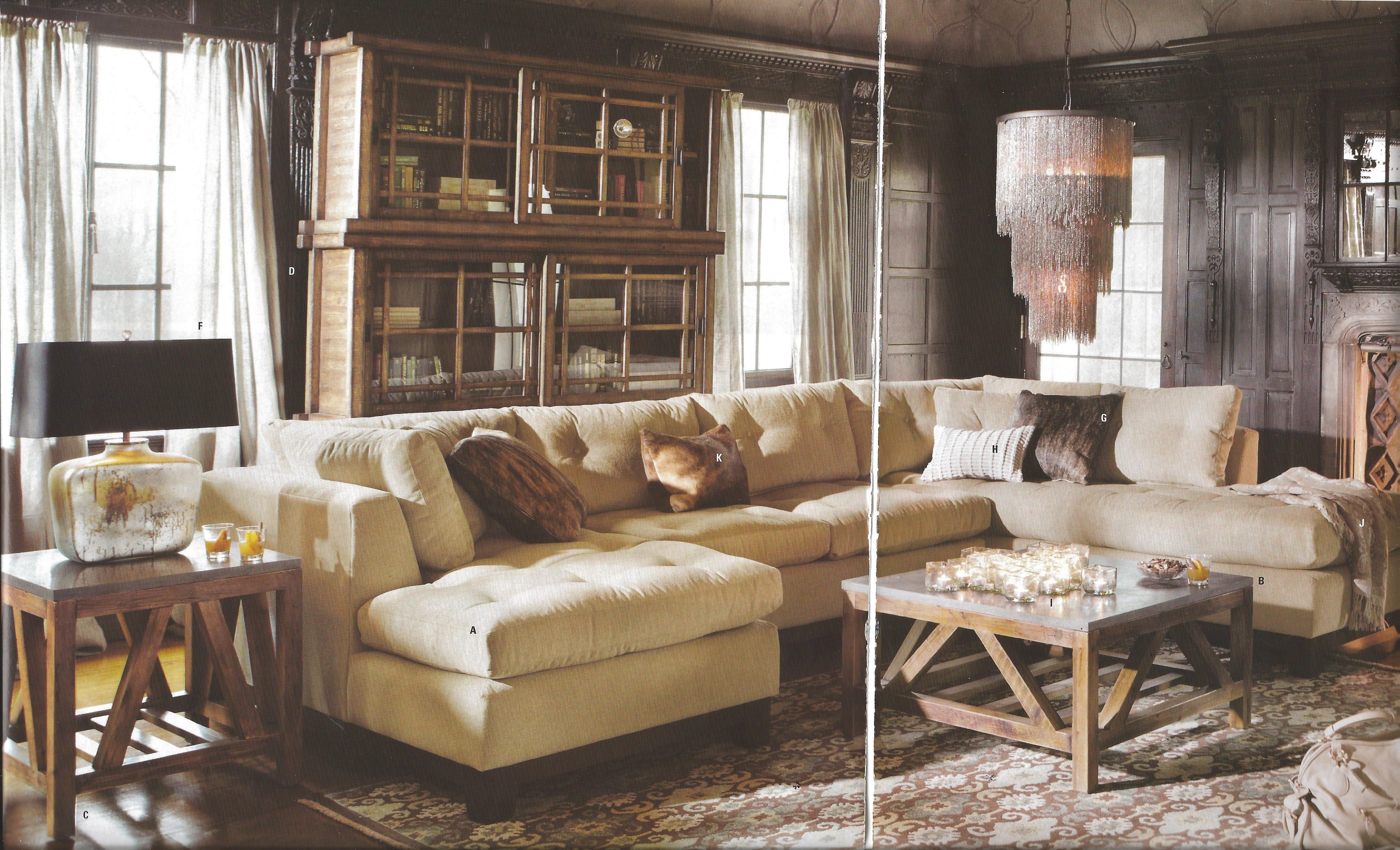Arhaus garner sectional sofas pinterest living rooms for Sectional sofas arhaus