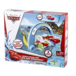 Mattel: Cars World Grand Prix Splash Speedway Track Set Review & Giveaway