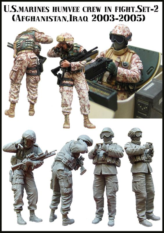 1//35 Resin Figure Model Kit US Soldiers Modern Special Forces Iraq War Unpainted