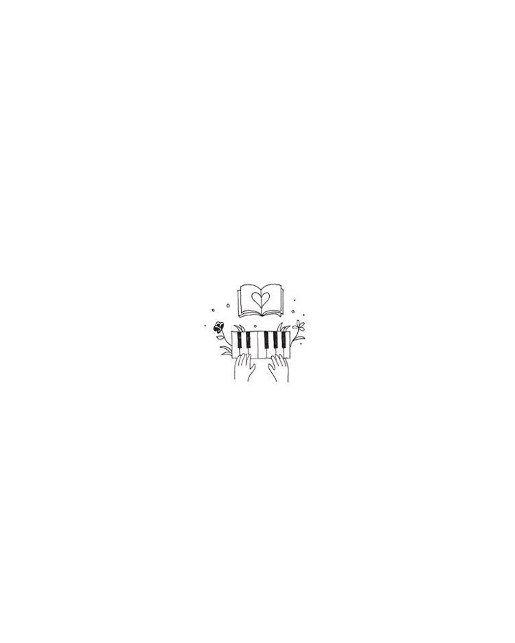 Basic Cute Aesthetic Drawings Easy In 2020 Small Drawings Piano