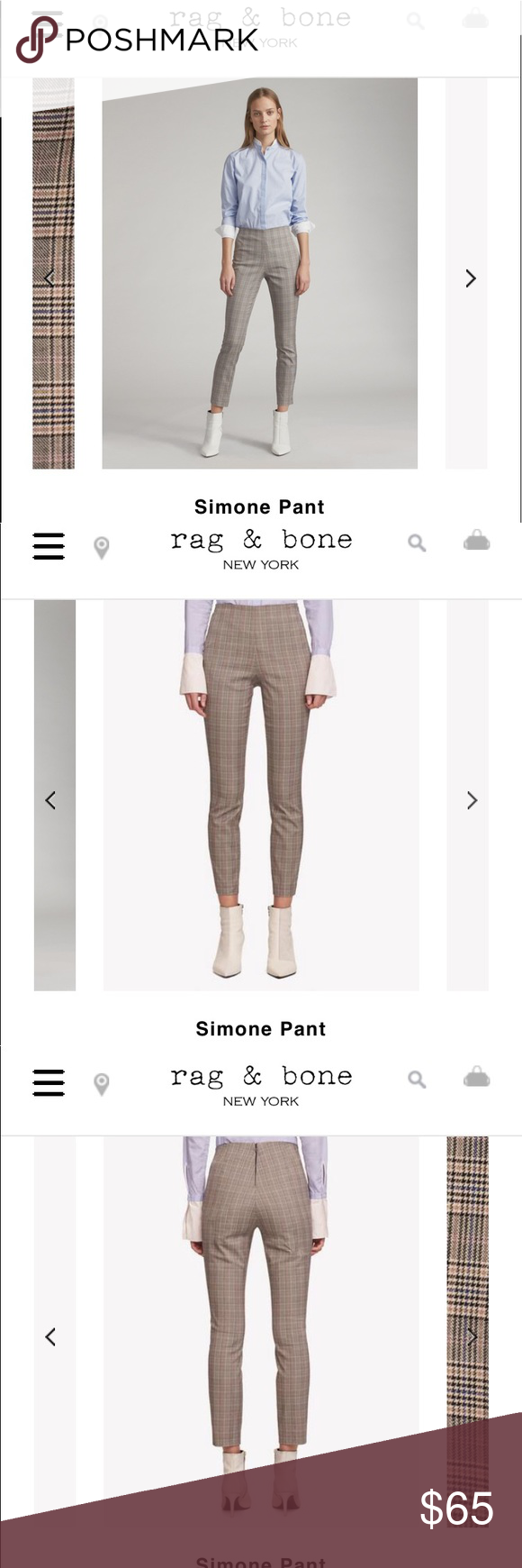 Rag Bone Simone Plaid Pant Plaid Pants Pants Rag Bone