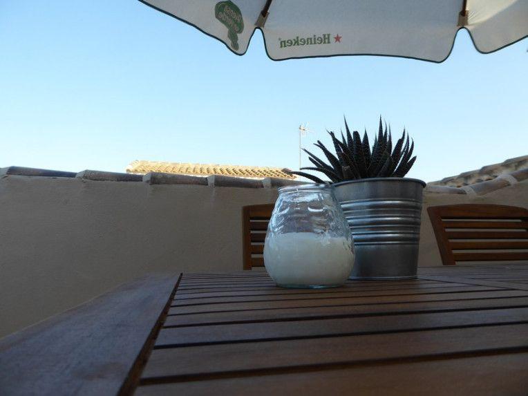decoración mesa terraza