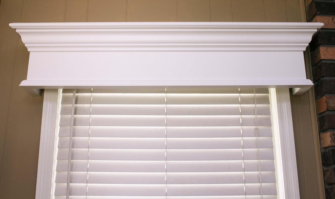 Pleasanton Custom Wood Window Cornice Redecorating Ideas