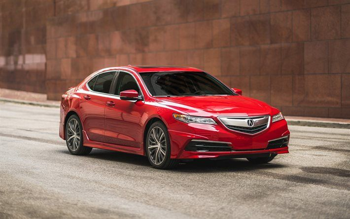 Download Wallpapers Acura Tlx 2017 Gt Packages Red Tlx New Tlx Japanese Cars Acura Besthqwallpapers Com Acura Tlx Acura Cars For Sale