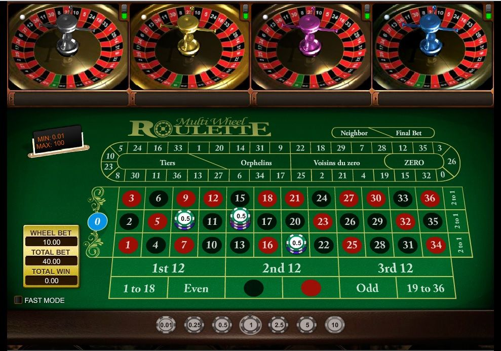 New multi wheel roulette game have a world class