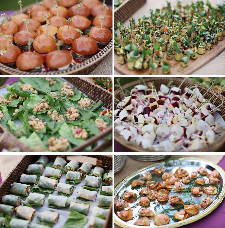 CK's wedding appetizers.