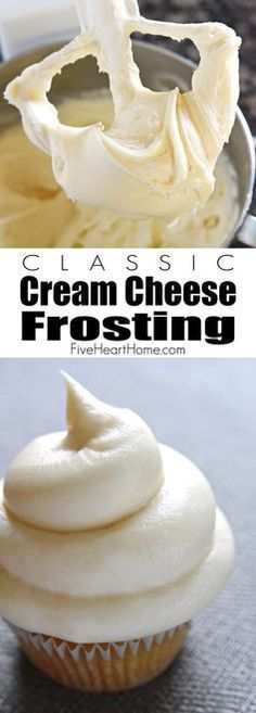 Cream Cheese Frosting ~ silky and sweet with a slight tang from the cream cheese, this effortless frosting comes together with just four ingredients and complements a variety of cakes and cupcakes |