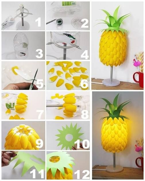 pineapple lamp lovely diy pinterest basteln lampen und ananas. Black Bedroom Furniture Sets. Home Design Ideas