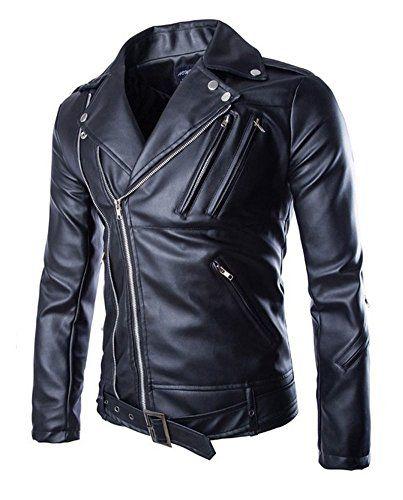 NMFashions Negan Walking Dead S7 Jeffrey Dean Morgan Black Biker Faux Leather Jacket