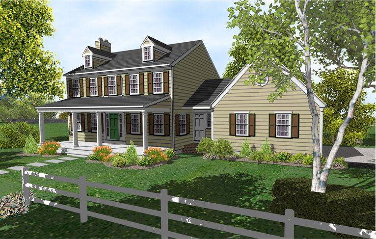 2 Story Colonial House Plan. I like the separate mudroom