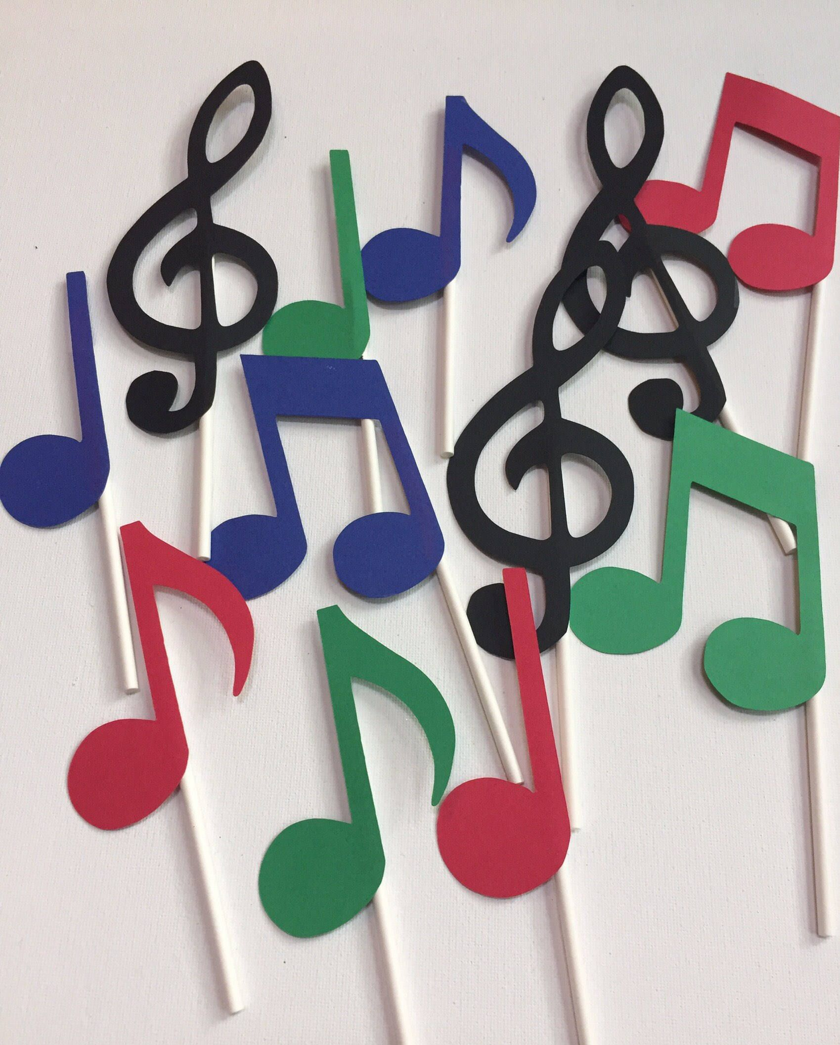 Music note cupcake toppers music cupcake decoration music  Etsy