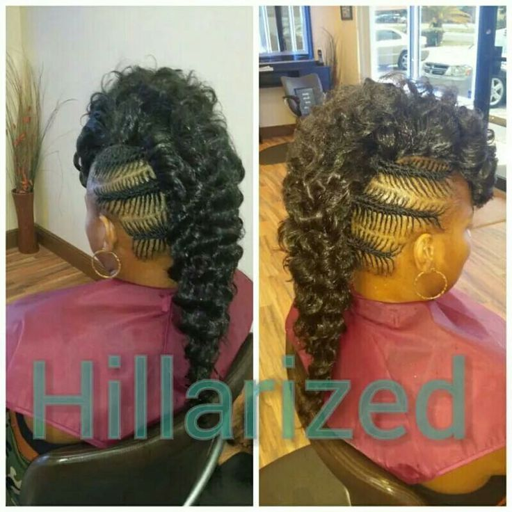 Cute Flat Twist Updo Hairstyle