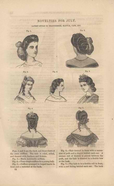 Hair styles July 1863