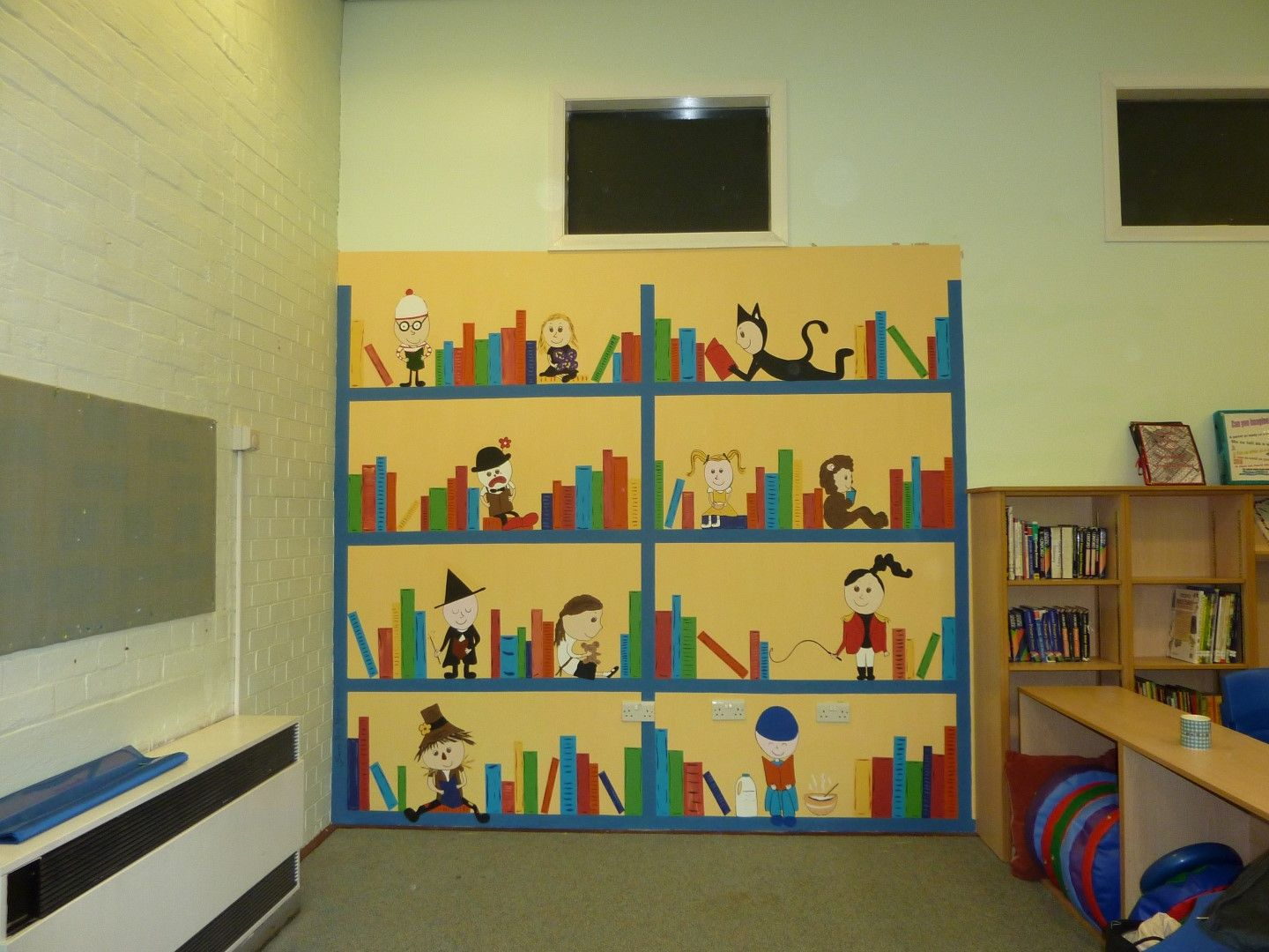 School Library Book Mural | Murals For Schools | Pinterest | Modern ...