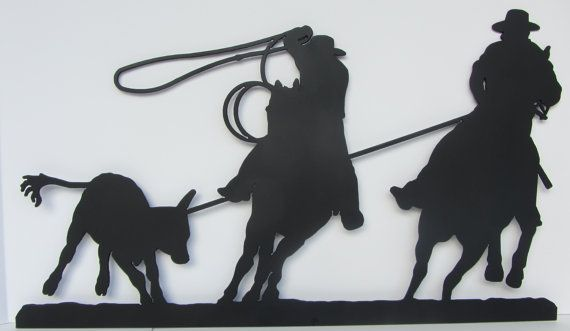 Team Roping Wall Art Western Wall Art With Two By
