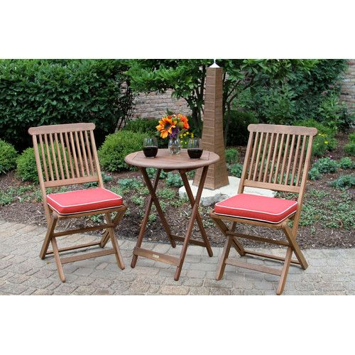 roseland 3 piece bistro set with cushions chic classic derby rh pinterest co uk
