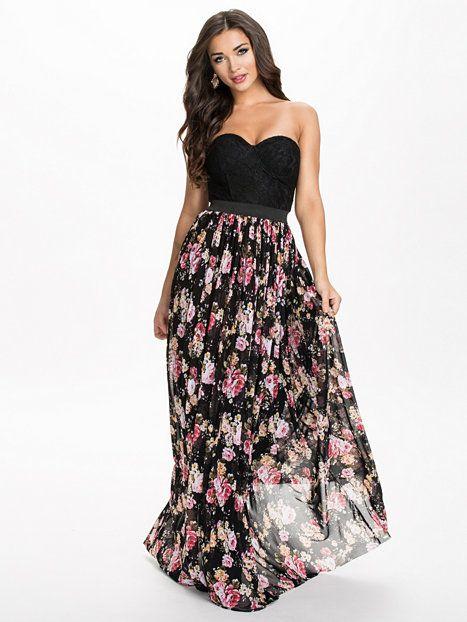 Lace Floral Skirt Maxi Dress - Rare London - Multi - Festklänningar -  Kläder - Kvinna - Nelly.com 46a4a87151015