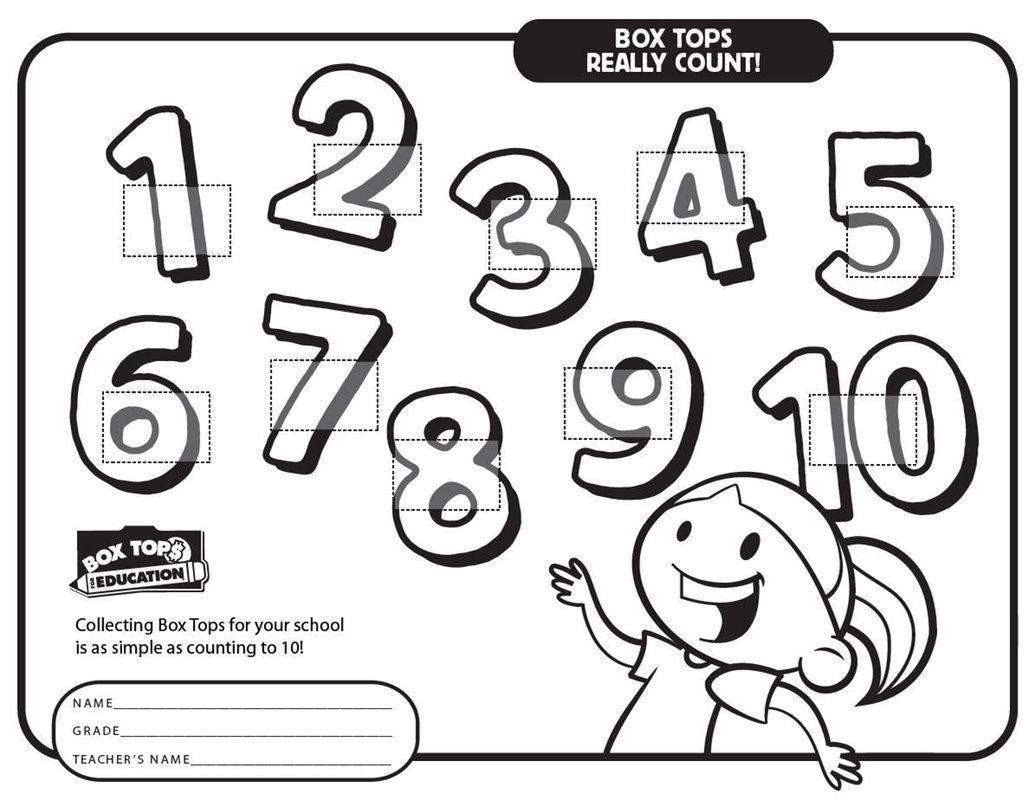 Printable Box Tops Collection Sheets In With Images
