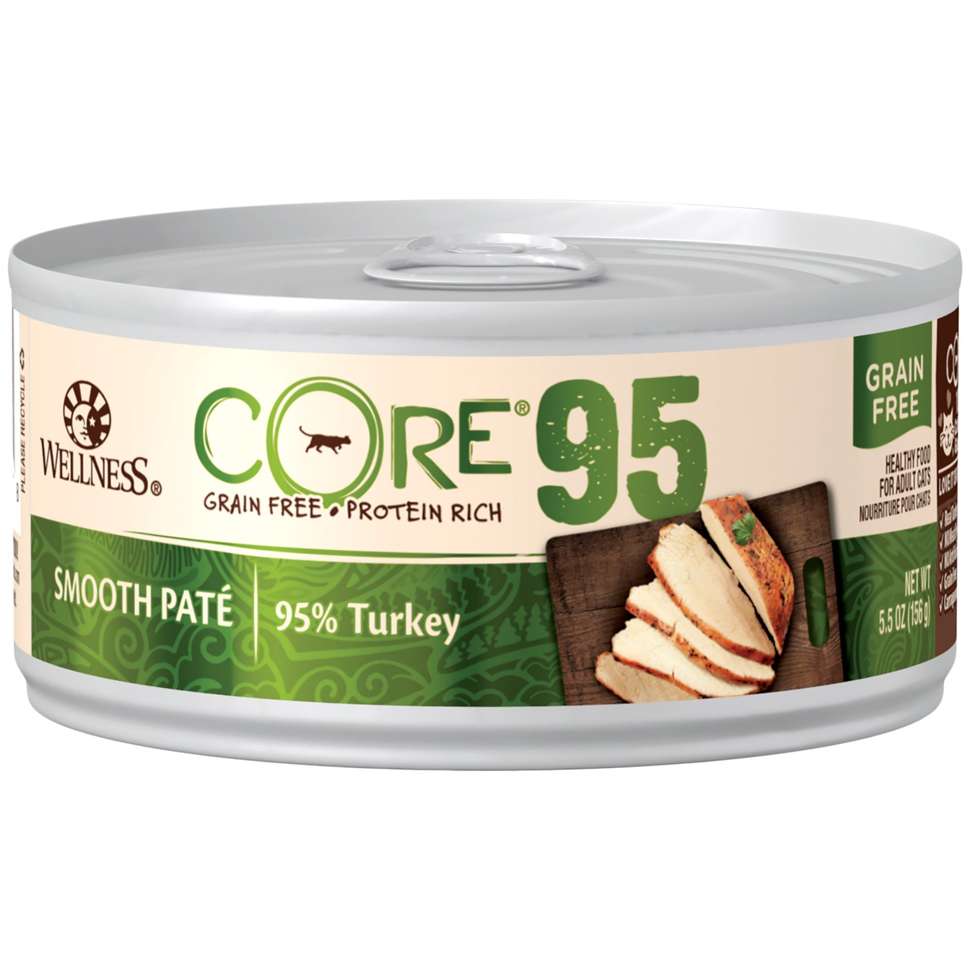 Wellness core 95 natural grain free turkey wet canned cat