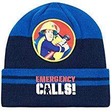 Gorro de lana de Sam el bombero de color azul. Bonito gorro que mantendrá  calentita 9973846889856