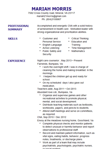 Resume Preview