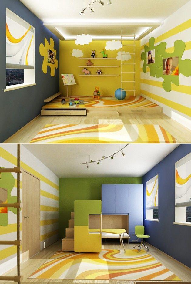 30 Attractive Green Kids Room Designs   Green kids rooms, Kids rooms ...