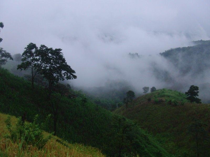 Thaton mountains close to the akha hilltribe villages