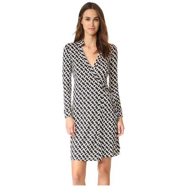 1a11f34da5d Diane von Furstenberg New Jeanne Two Wrap Dress (23.485 RUB) ❤ liked on  Polyvore featuring dresses