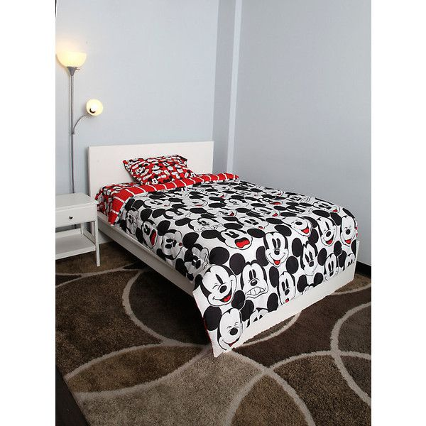Disney Mickey Mouse Twin Sheet Set Hot Topic ($36) ❤ liked on Polyvore featuring home, bed & bath, bedding, bed sheets, disney, disney bedding, mickey mouse sheet set, twin sheet sets and twin top sheet