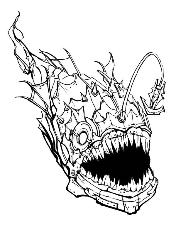 Creepy Angler Fish Coloring Pages Best Place To Color Fish Coloring Page Angler Fish Art Angler Fish
