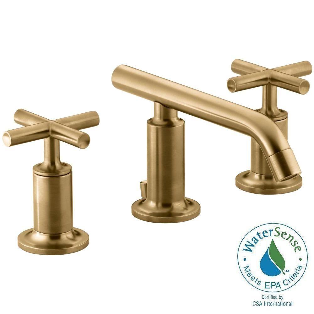 Salle De Bain Frise Douche ~ kohler purist 8 in widespread 2 handle low arc bathroom faucet in