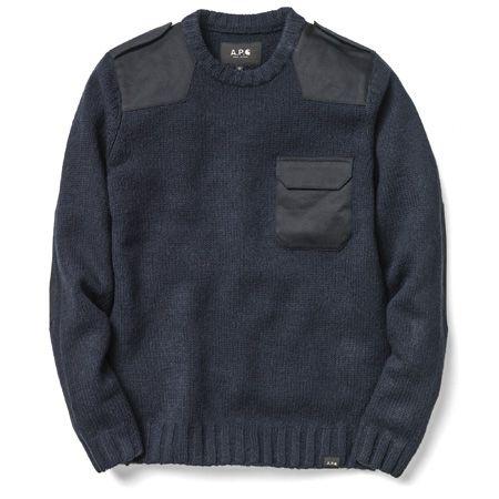 Wool Commando Sweater In Marine