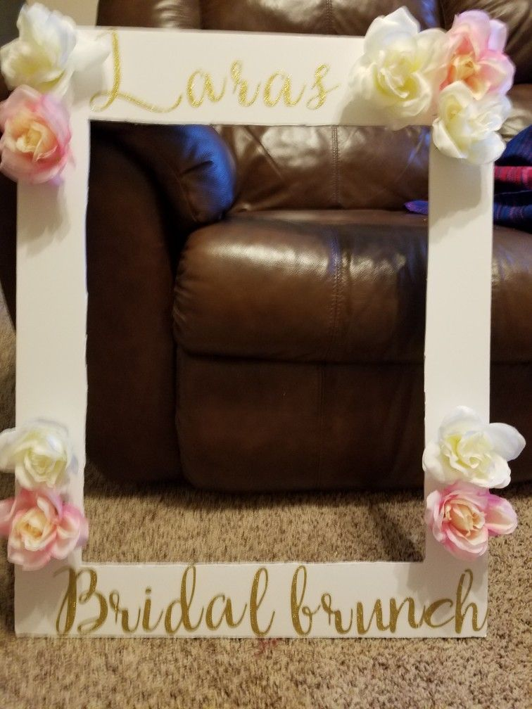 Diy Photo Frame Prop For Bridal Brunch Stick On Letters Bought From