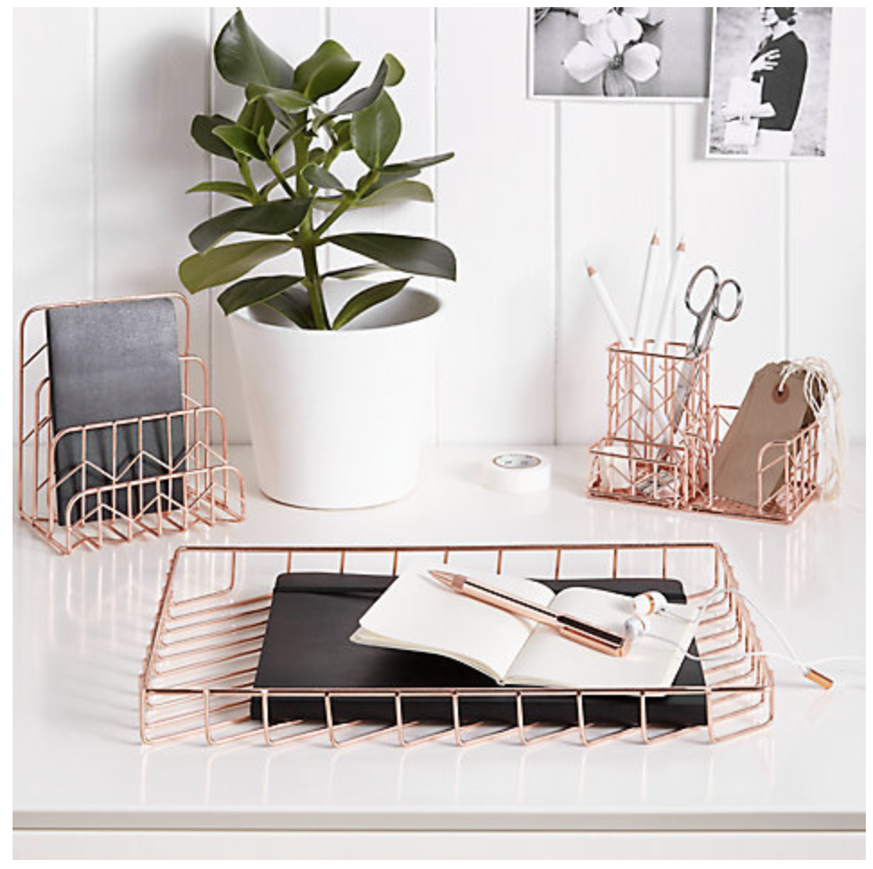 cool stationery items home. Stationery Obsessed? Gorgeous Rose Gold Items For Your Cool Home