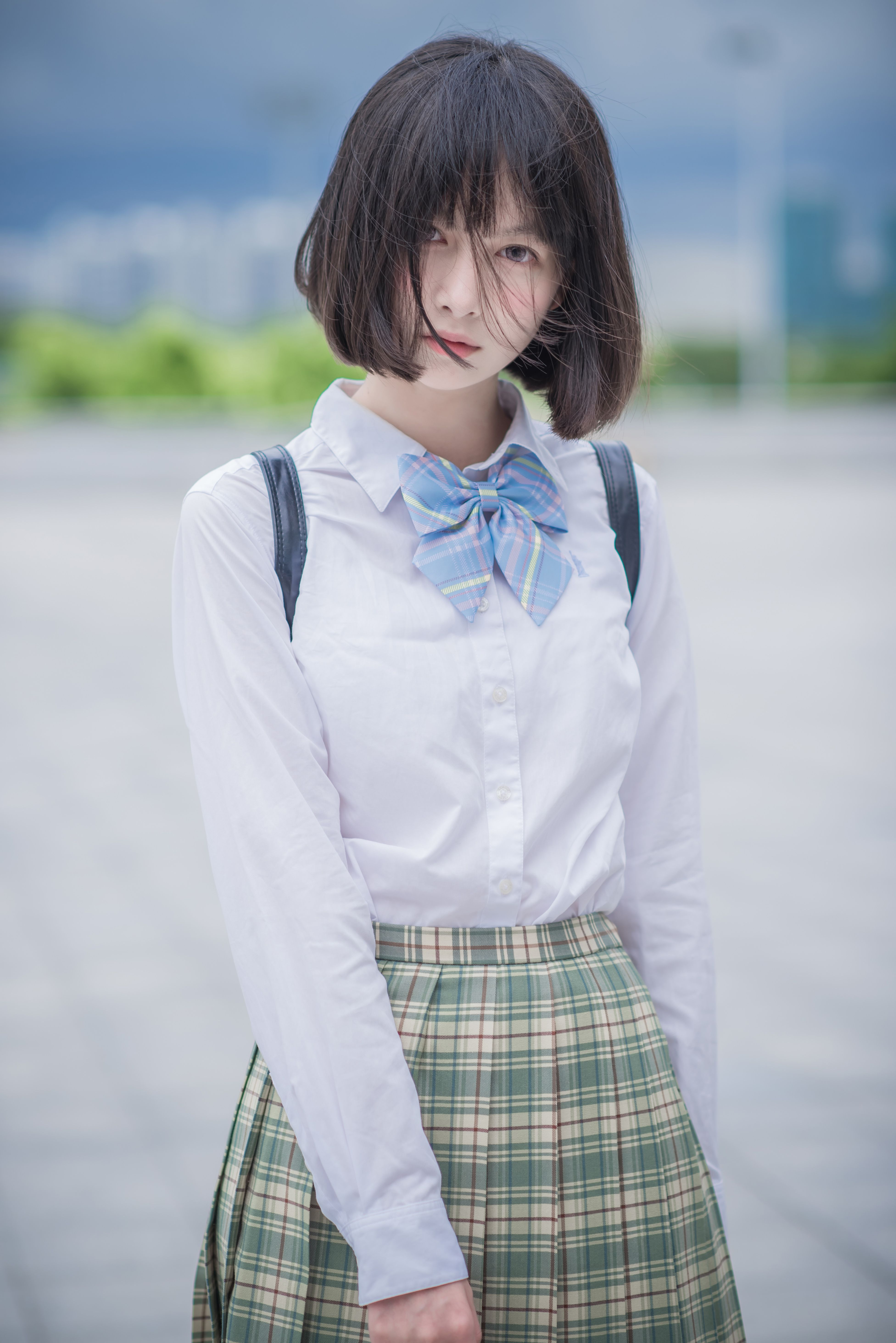 Japanese beauties in school uniforms, jerking dicks in a glory hole