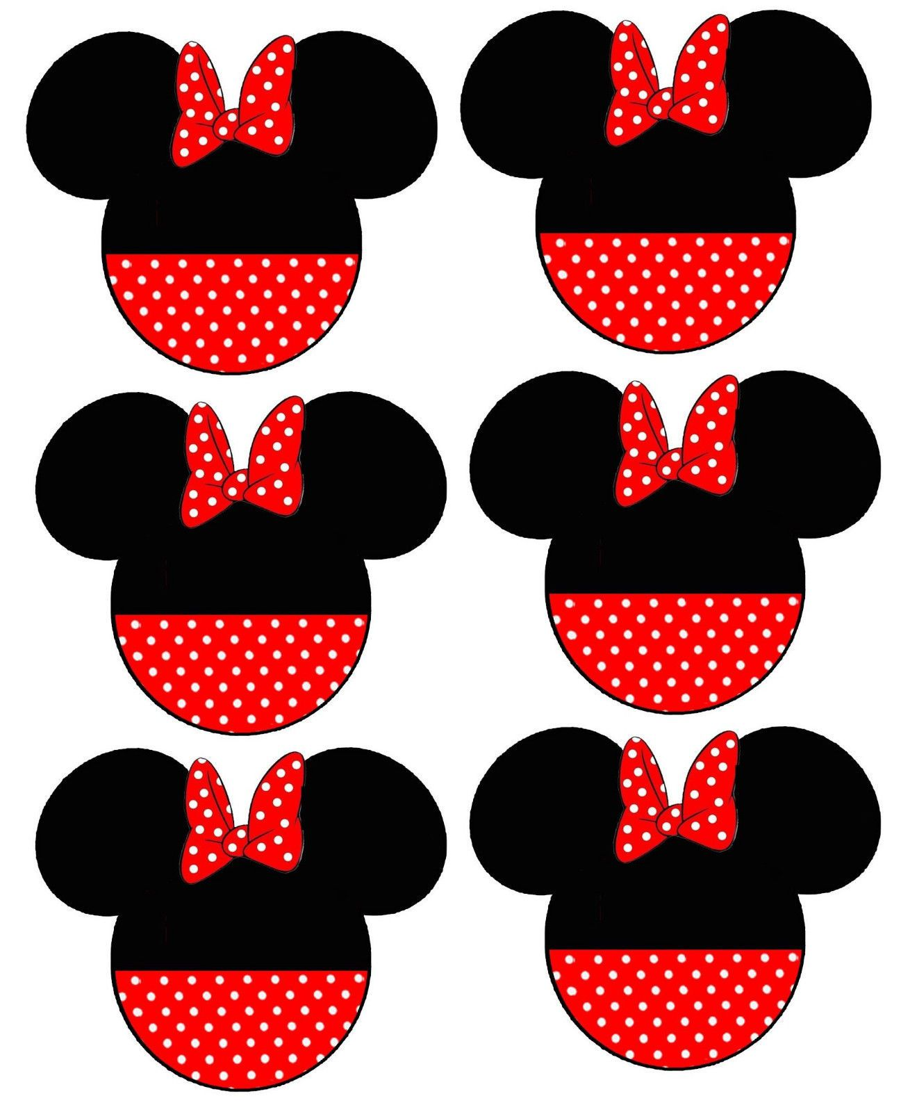*****DISNEY MINNIE MOUSE BOW  ****FABRIC//T-SHIRT IRON ON TRANSFER
