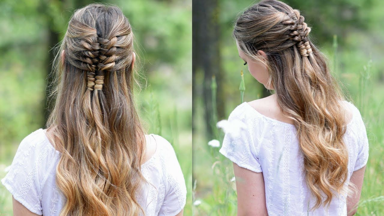 Floating Infinity Braid Holiday Hairstyles Cute Girls Hairstyles