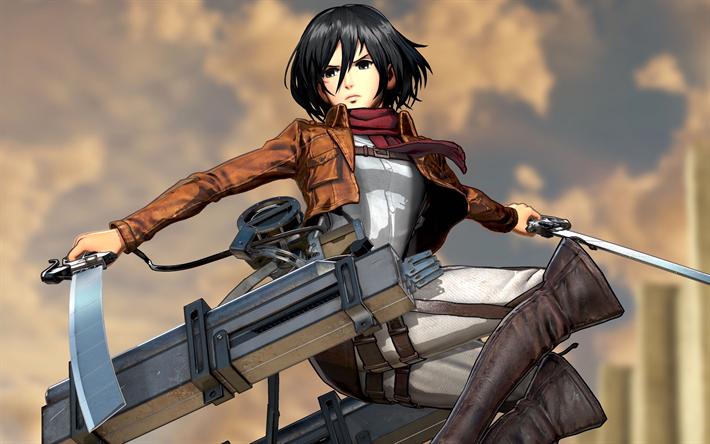 Anime Wallpaper Attack On Titan Mikasa
