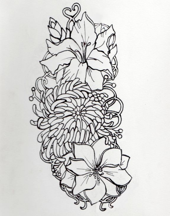 Gladiolus Chrysanthemum And Larkspur Gladiolus Tattoo Larkspur Tattoo Gladiolus Flower Tattoos