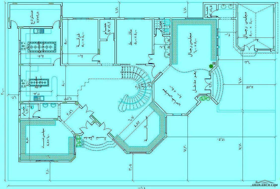 مخطط فيلا خليجى طابقين 20 30 متر Classic House Design Home Map Design My House Plans