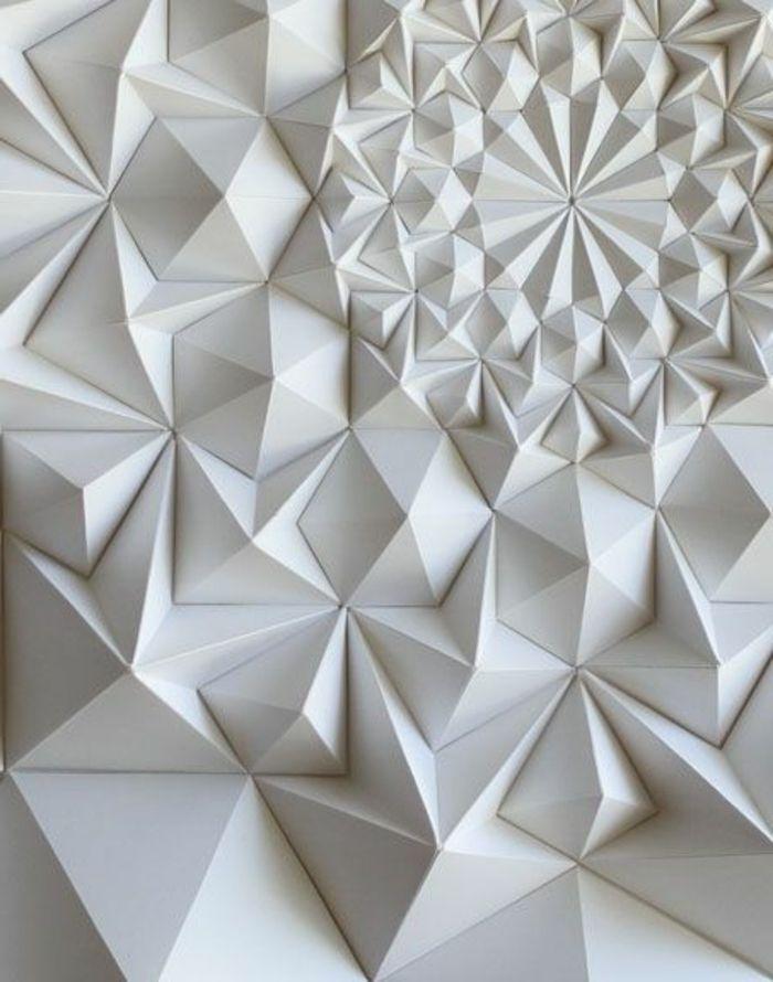 panneau mural 3d inspiré de l\'art origami | Décoration | Pinterest ...
