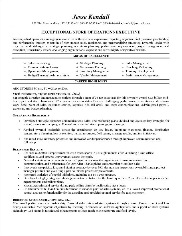 supervisor resume sample retail store examples resumes for