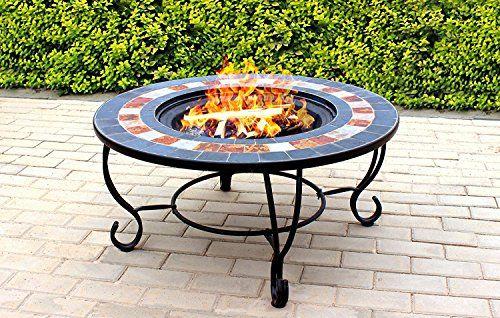 Centurion Supports Fireology Chauffage De Jardin Dakota/foyer/table Basse  Barbecue/Seau à GlaceFinition Ardoise