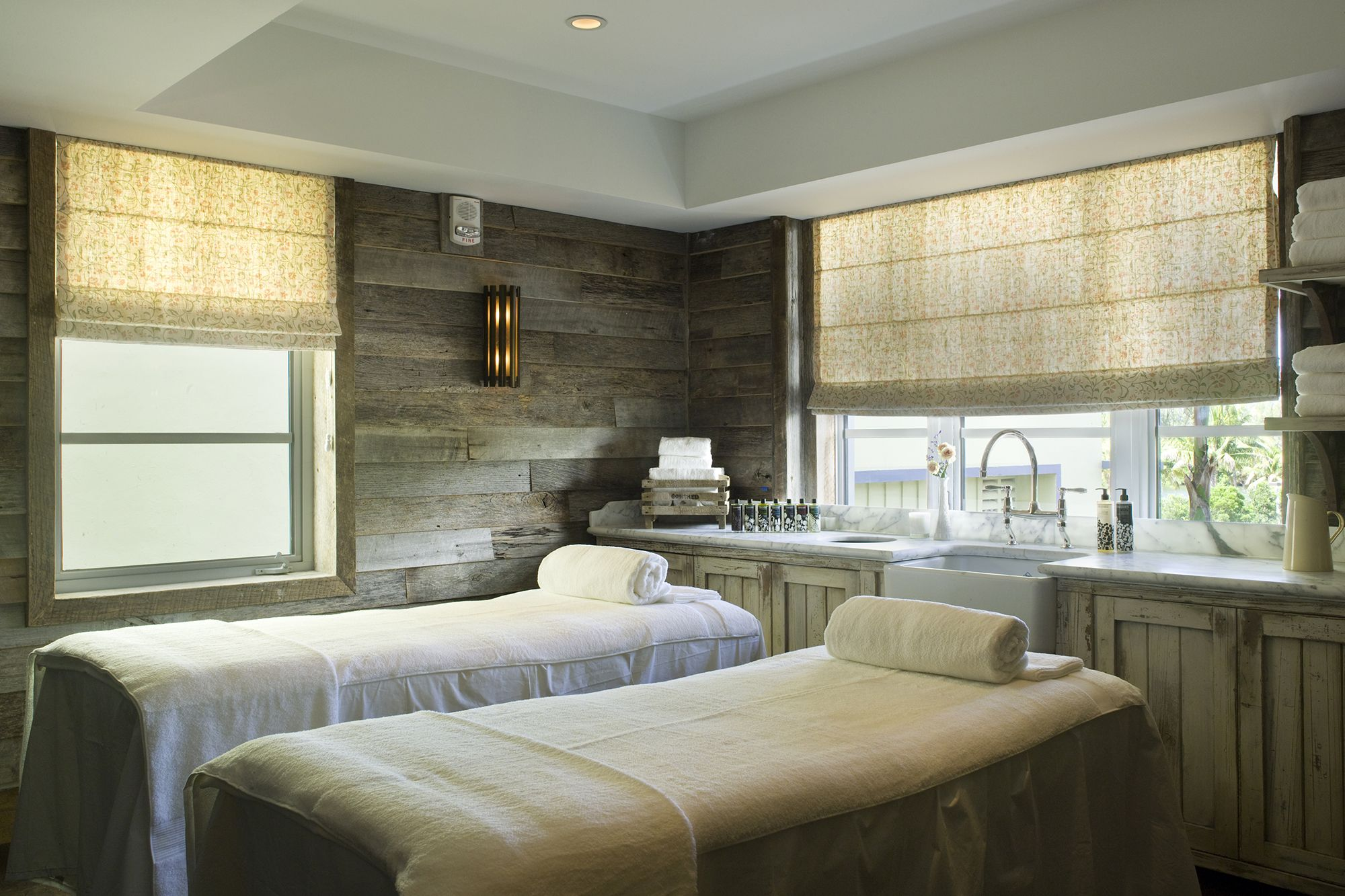 Charming Wall Panelling Treatment Room