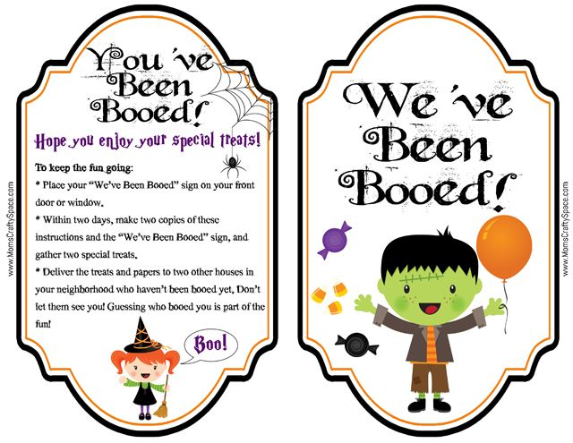 photo about We've Been Booed Printable known as Pin upon Do it yourself/crafts