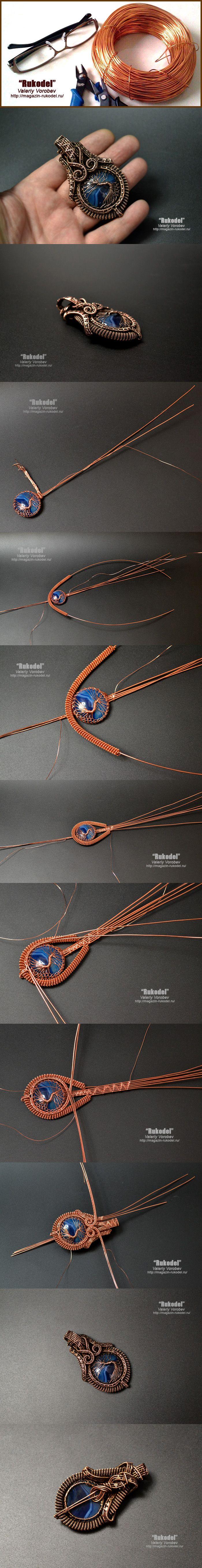 Wire Wrap Pendant | Wire Work | Pinterest | Draht, Drahtschmuck und ...