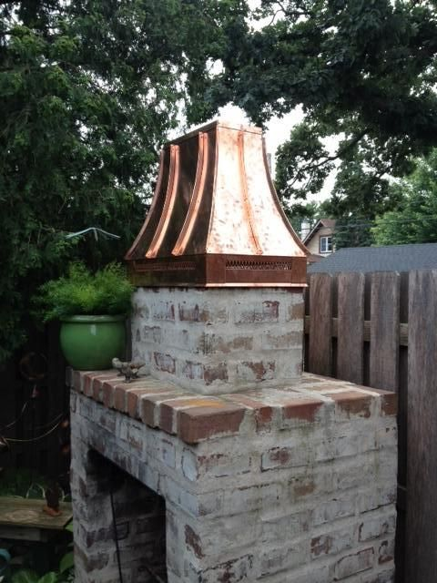 CopperSmith Collection Outdoor Fireplace Cap.