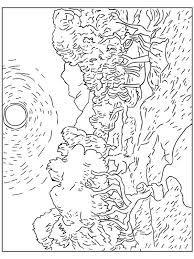 Resultado De Imagem Para Noite Estrelada Van Gogh Para Colorir