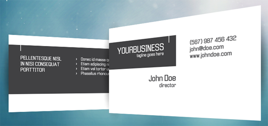 template for business card - Khafre