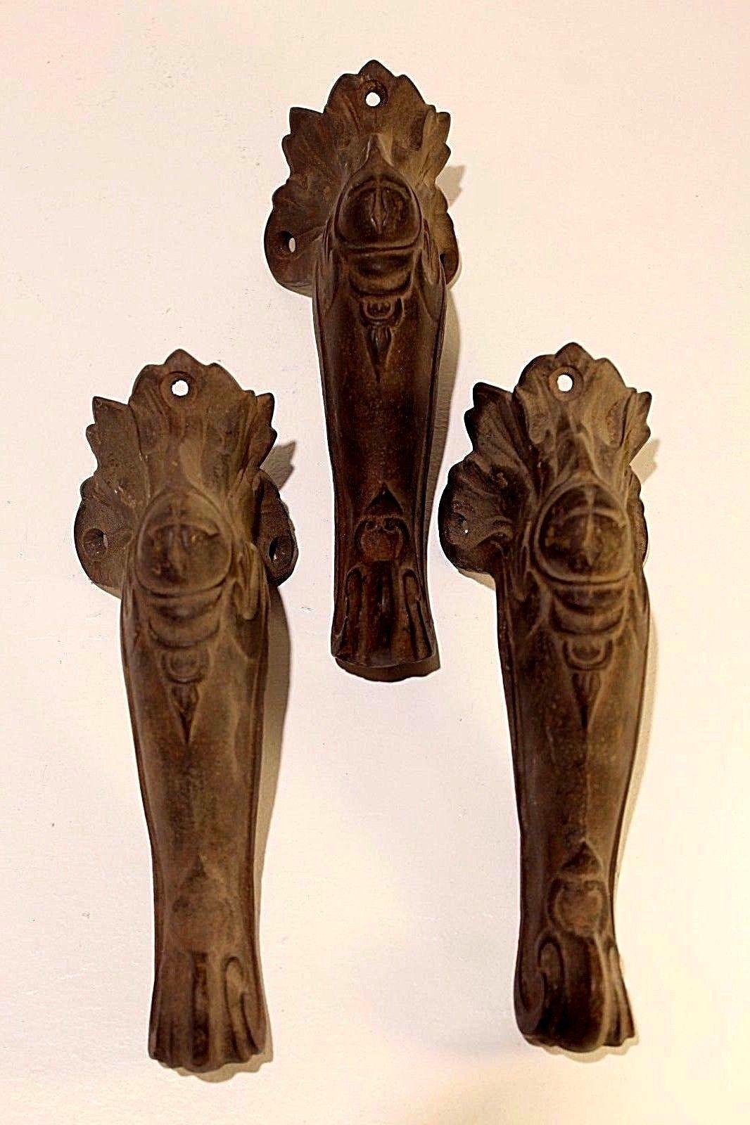 3 Ornate Vintage Victorian Era Cast Iron Clawfoot Tub Feet Bathtub ...